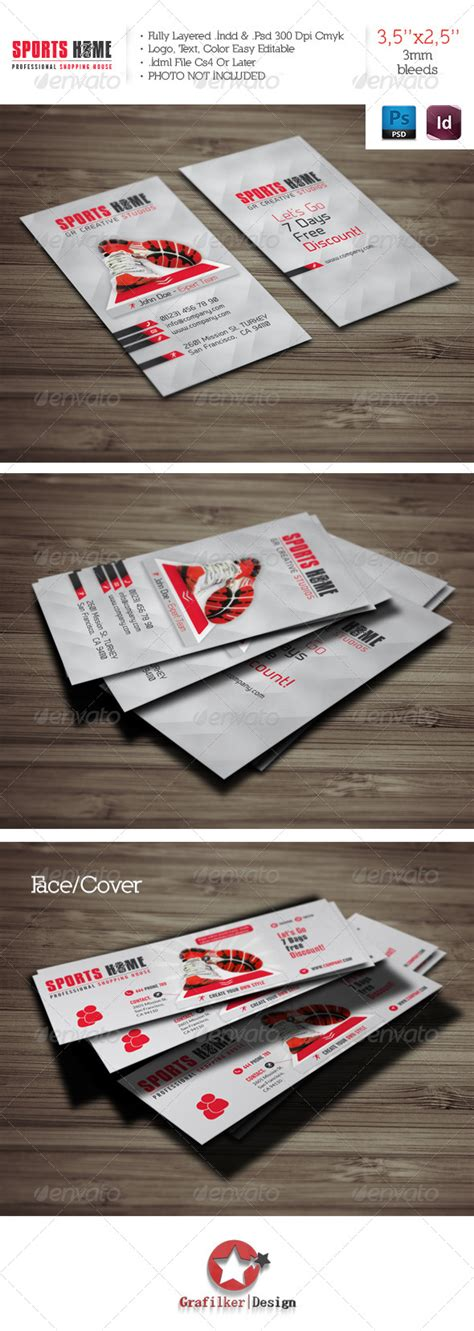 sports business cards template sports house business card template by grafilker