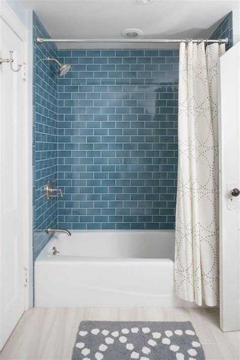 glass subway tile bathroom ideas best 25 blue subway tile ideas on blue