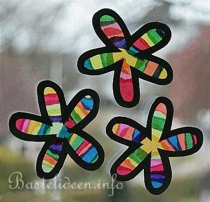Fensterbilder Weihnachten Basteln Grundschule by Basteln Mit Kindern Fensterbilder Regenbogen Blumen