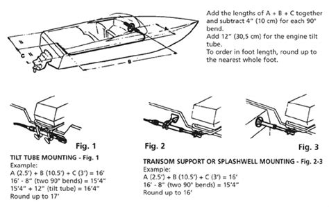 boat steering cable measurement steering cable installation instructions for outboard motors