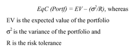 Formula Credit Risk Equivalent Combining Preference Theory And Capm Efficient Frontier Palisade Corporation