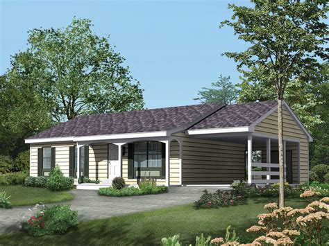 Jonesboro Ranch Home Plan 008d 0026 House Plans And More House Plans With Carport