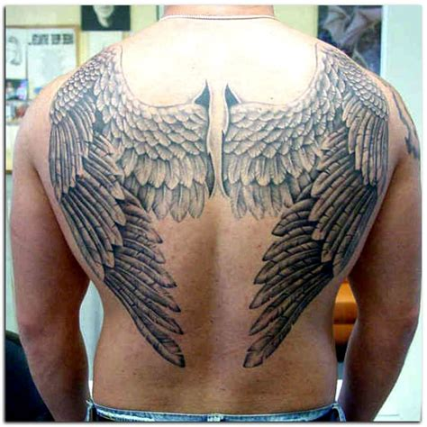 angel wing tattoos for men wings back www pixshark images