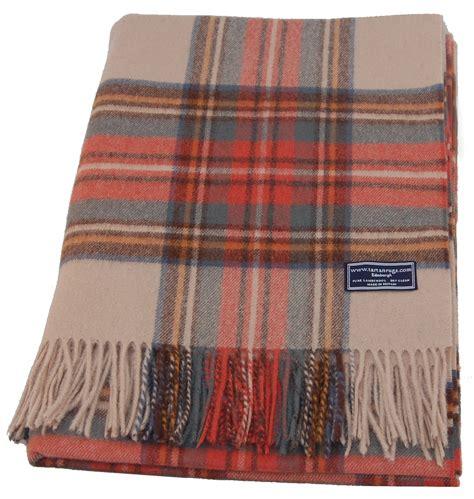 lambswool rug weathered maclean of duart tartan lambswool travel rug