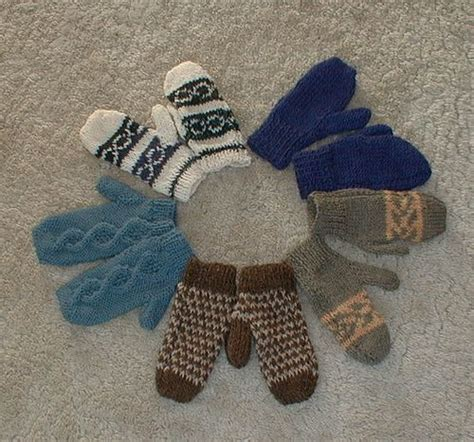 mitten knitting pattern 2 needles two needle mittens knitting crochet