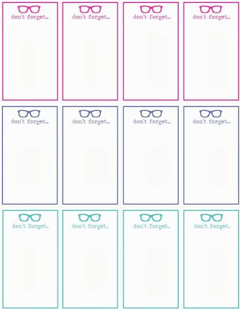 Note Card Printing Template by Don T Forget Cards Template Reminders Notes