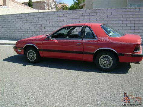 1989 chrysler lebaron 1989 chrysler lebaron premium coupe 2 door 2 5l