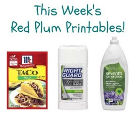 printable grocery coupons red plum red plum printables seventh generation right guard