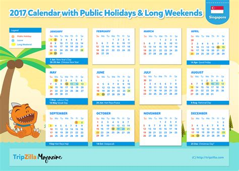 Calendar 2017 Pdf Philippines 10 Weekends In Singapore In 2017 Bonus Planner