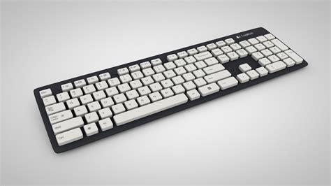 Keyboard Logitech K310 keyboard logitech k310 3d model