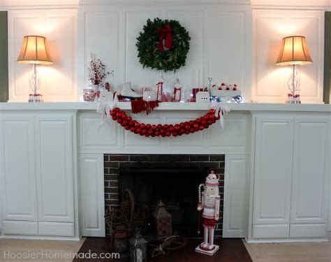 how can i decorate my home christmas mantel homemade holiday inspiration hoosier