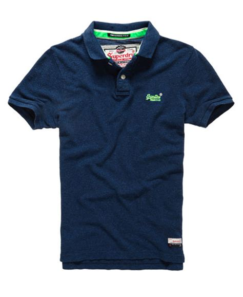 Polo Shirt Marvel mens classic pique polo shirt in marvel blue grindle superdry