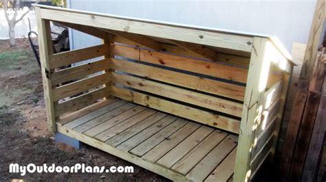 diy small firewood shed myoutdoorplans