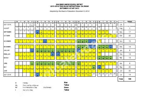 2016 17 year round calendar wcpss calendar template 2016