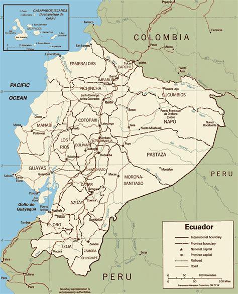ecuador map in south america ecuador map been there central south america