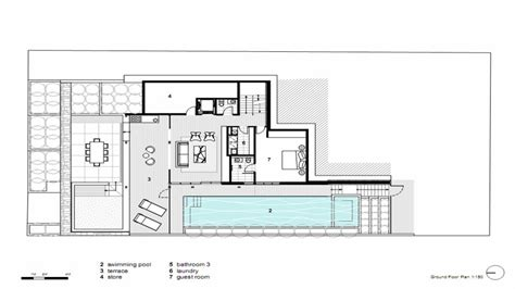 modern open floor house plans  floor modern glass house