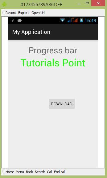 tutorial android progress bar android progress bar using progressdialog