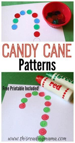abcd pattern poem legend of the candy cane printable