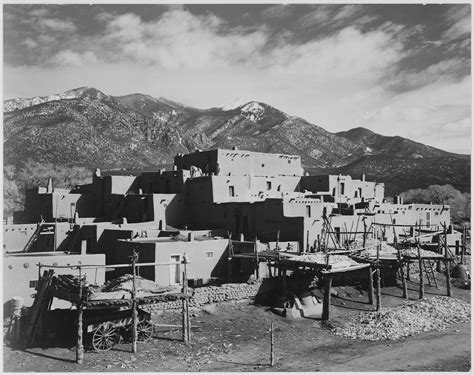 Pueblo Records File View Of City Mountains In Background Quot Taos Pueblo National Historic