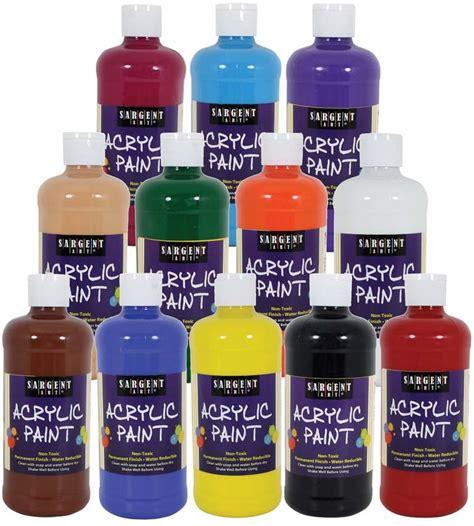 wholesale acrylic paint wholesale set of 12 16oz acrylic paint sku 1940573