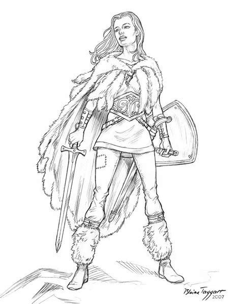 warrior girl coloring page warrior girl by staino on deviantart