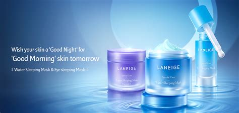 Laneige Eye Sleeping Mask skincare mask water sleeping mask lavender laneige sg