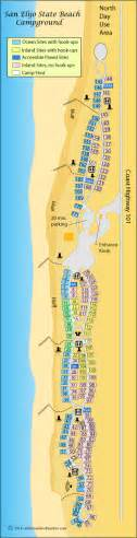 Carlsbad State Beach Campground Map by La Jolla Beach Area Camping California S Best Beaches