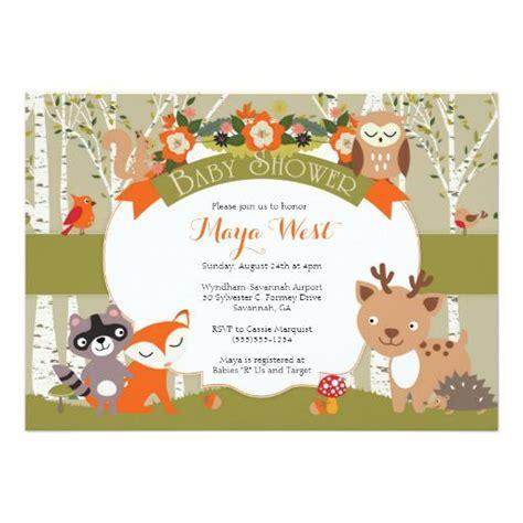 Forest Animal Baby Shower by Woodland Baby Shower Invitations Babyshowerinvitations4u