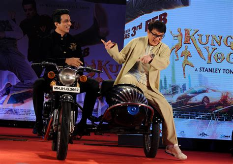 hong kong kid actor jackie chan teams up with bollywood for kung fu yoga