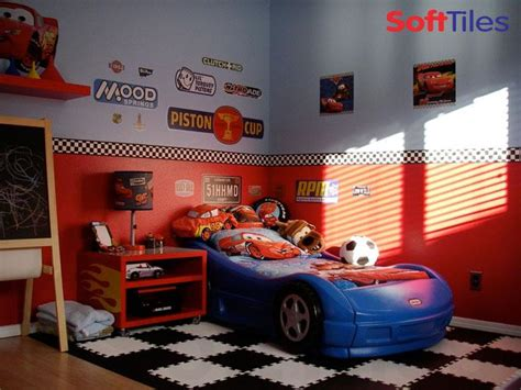 boys car themed bedroom race car room puzzle foam floor mats softtiles