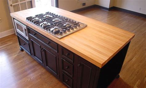 1 1 2 inch hard maple wood island countertop in blond