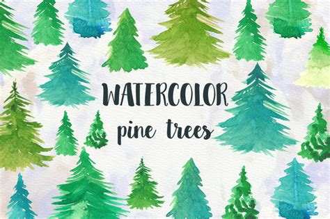winter woods watercolor clip pine trees snow log cabin watercolor background watercolor pine trees illustrations on creative market