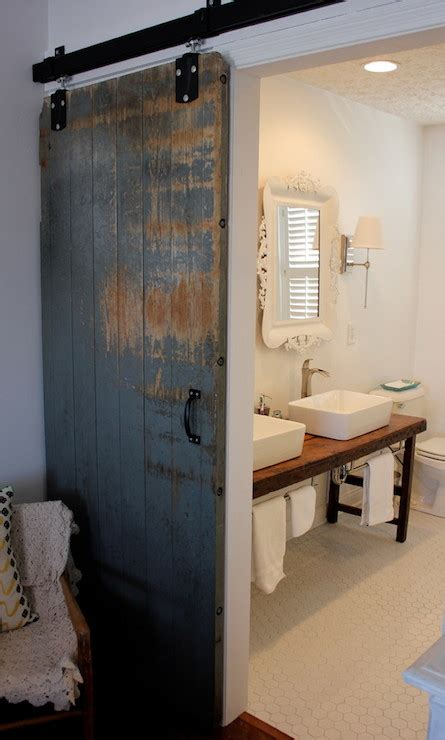 Barn Doors For Bathroom Bathroom Barn Door Transitional Bathroom The Home Company