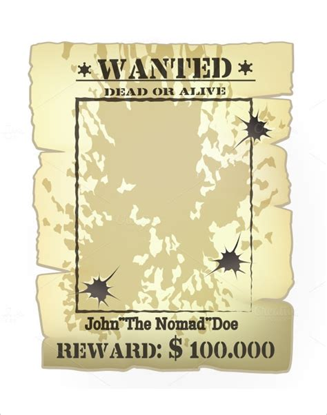 Wanted Poster Templates Word Templates Docs Most Wanted Template Docs