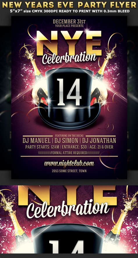 free new years flyer template flyer templates vnzgames