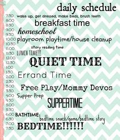 8 best images of stay at home printable schedules