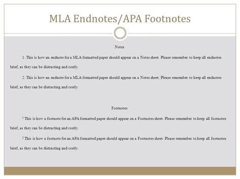 footnote format for apa citations modern language association mla ppt video