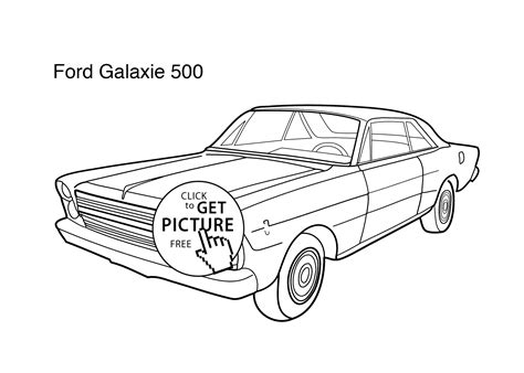 coloring pages of ford cars super car ford galaxie 500 coloring page for kids
