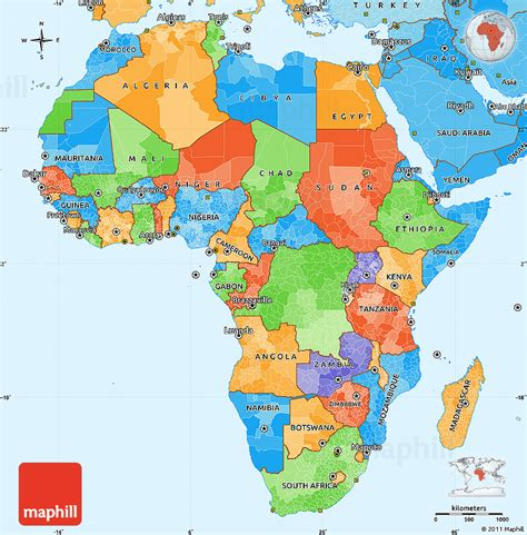 political map of africa free world maps political simple map of africa political shades outside