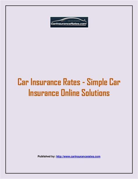 Car insurance rates simple car insurance online solutions
