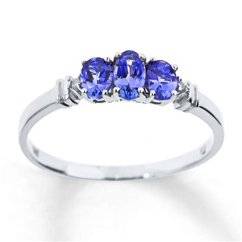 jared tanzanite ring accents 10k white gold