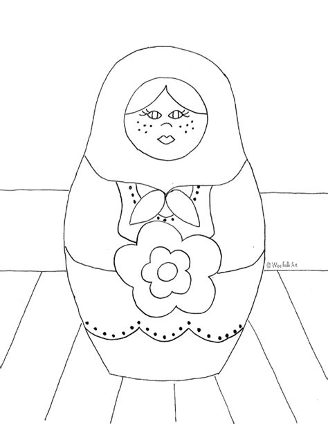 coloring pages matryoshka dolls russian nesting dolls coloring page wee folk art