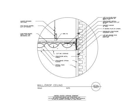 Suspended Ceiling Section Detail by Usg Design Studio Cold Rolled Channel Details