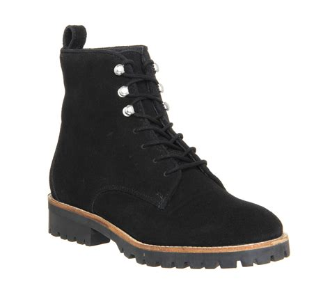 lace up work boots office forest lace up work boots in black lyst