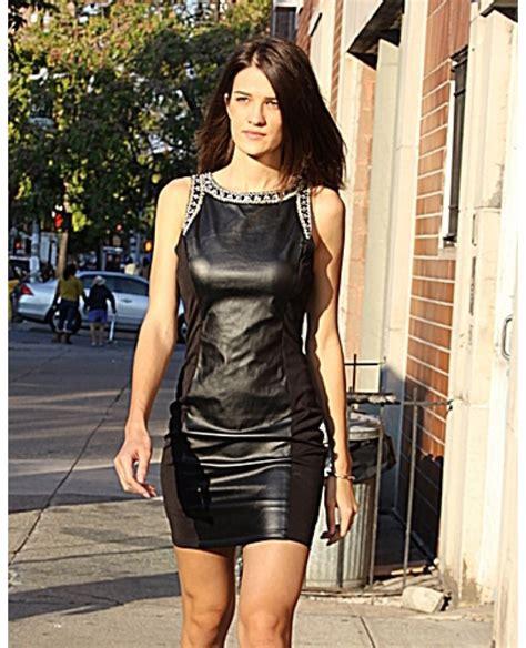 Shamlan Dress By M E embellished faux leather dress