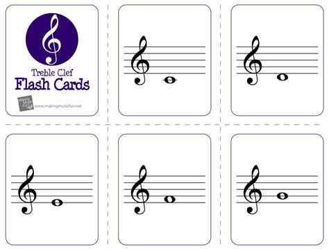 musical staff lines on flash cards template with mrs dennis centers assessing the treble