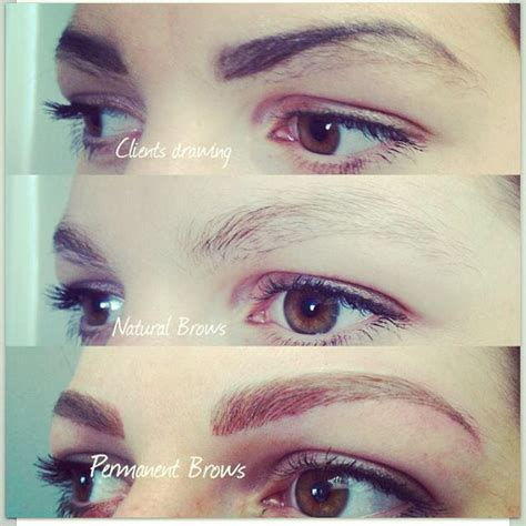 tattoo eyebrows itch 21 best semi permanent eyebrow hairstroke tattoo images on