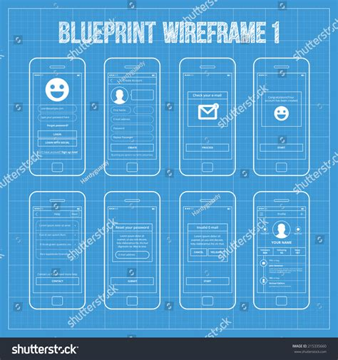 make a blueprint blueprint wireframe mobile app ui kit 1 login screen