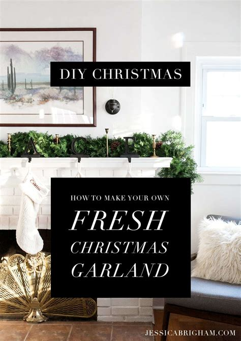 christmas garland puns diy how to make your own fresh garland 187 brigham