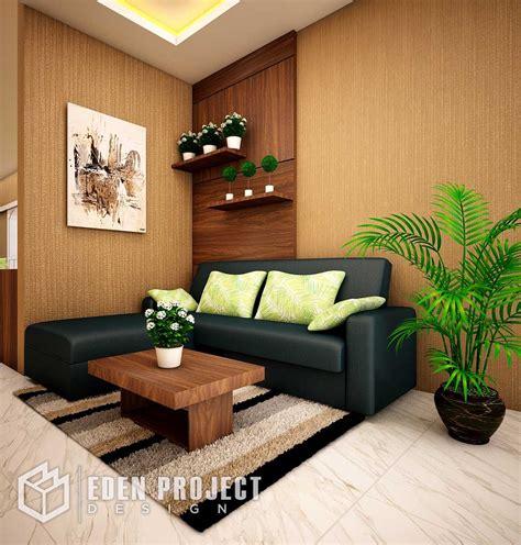 ruang tamu nuansa hangat  sentuhan warna kayu